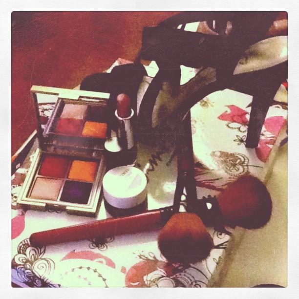 Makeup & heels. (Taken with instagram)